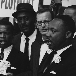 """Rev. Martin Luther King, Jr. at the """"March on Washington for Jobs and Freedom,"""" August 28th, 1963."""