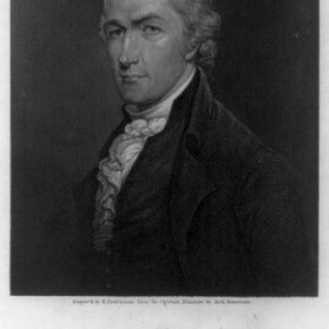 Alexander Hamilton engraved by Prud'homme from miniature by Arch. Robertson, 1835. Source: Library of Congress