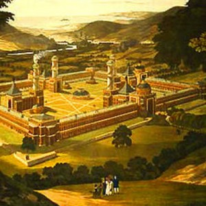 Robert Owen's proposed utopian community in New Harmony, Indiana, 1838 (from Wikimedia Commons).