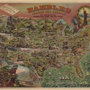 Rambles Through Our Country -- An Instructive Geographical Game for the Young, 1890.