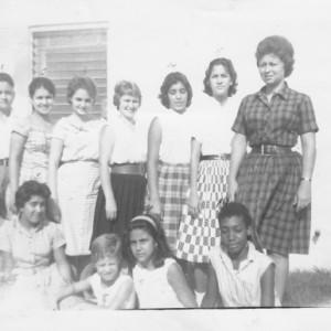 Pedro Pan girls, Florida City, Fla., 1962.  Courtesy of Ileana Ortega Menéndez.