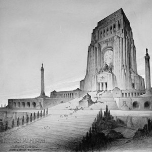 Proposed Mothers' Memorial by John Geddes, 1922-30 (Library of Congress).