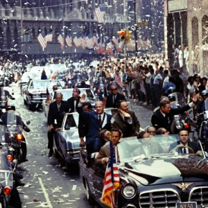 New York City welcomes Apollo 11 crewmen in a showering of ticker tape down Broadway and Park Avenue in a parade termed as the largest in the city's history. Image: NASA