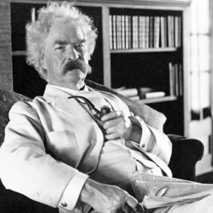 Samuel Langhorne Clemens (aka Mark Twain), between 1900 and 1910. Source: Library of Congress