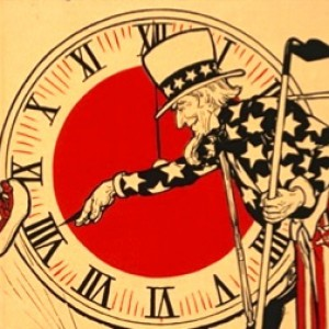 Details from a lithograph celebrating the passing of Daylight Saving legislation. Library of Congress.
