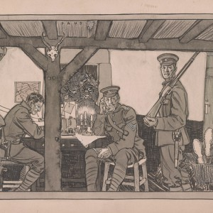 World War I soldiers by Herbert Andrew Paus, 1918. Source: Library of Congress