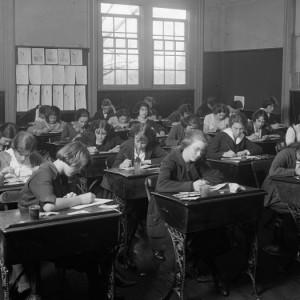 Junior High School: Classroom, by Harris & Ewing. Source: Library of Congress