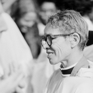 The Rev. Pauli Murray is shown as she is ordained at the Washington Cathedral in Washington, D.C., on Jan. 8, 1977. Rev. Murray is the first black woman ordained as a priest of the Episcopal Church. Murray resigned a professorship at Brandies University to become a candidate for the priesthood. (Source: AP Photo)