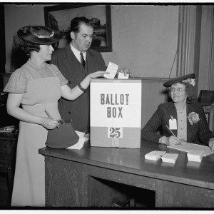 Voting in Washington, D.C., 1938 (Library of Congress).