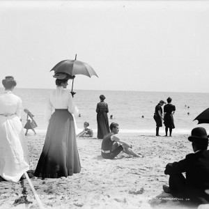 On the beach, Palm Beach, Fla., between 1900 and 1906. Source: Library of Congress