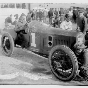 Italian-British driver Dario Resta finished a close second at the 1915 Indianapolis 500. Photo by Bains News Service. Flickr Commons project, via Library of Congress.