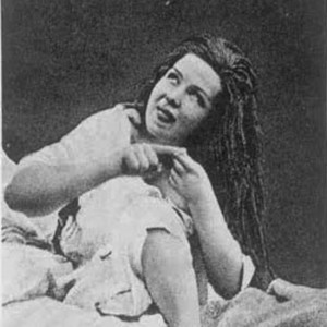 Woman in state of 'hysteria' (Wikimedia Commons).
