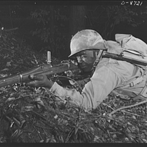 Fort Belvoir, Virginia. Negro infantry. This Negro infantryman in training at Fort Belvoir, Virginia represents a good type of soldier. When the Engineer Corps regiment to which he belongs is graduated from Fort Belvoir he will be well prepared for military duty. Nov. 1942 Source: Library of Congress
