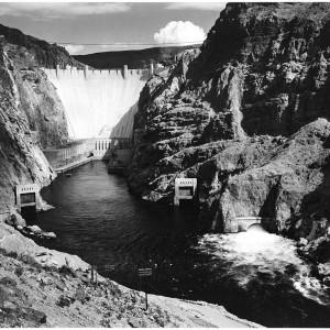 Ansel Adams, Boulder Dam. Wikimedia Commons.