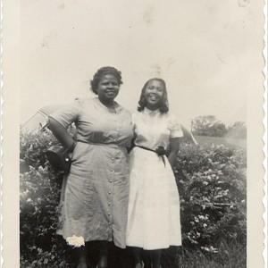 Barbara Johns, shown with her high school teacher. Courtesy of Joan Johns Cobbs.