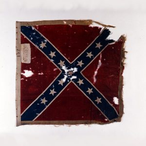 Flag of the 49th North Carolina Infantry, captured at the Battle of the Crater on July 30, 1864 by 43rd US Colored Troops. Source: American Civil War Museum