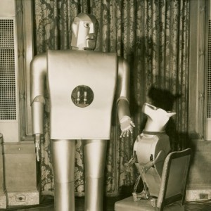 Elektro the Moto-Man and his Little Dog Sparko, created by Westinghouse Electric Company for the 1939 World's Fair (New York City Public Library).