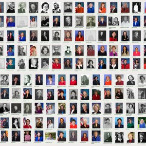 A composite of all available images of the 365 women who have served in Congress since 1917. Compiled using a search of pictures available via the Office of Art & Archives, Office of the Historian, United States House of Representatives.