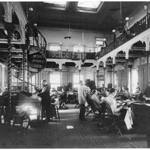 Post Office Dept. Dead Letter Office, c. 1890. By Frances Benjamin Johnston. Library of Congress.