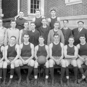 The University of Virginia Basketball Team, 1914. Holsinger Collection, Albert and Shirley Small Special Collections Library, University of Virginia
