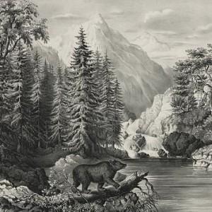 The mountain pass, Sierra Nevada. Library of Congress.