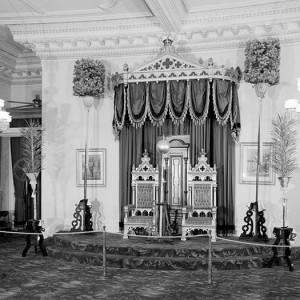 Throne room, Iolani Palace, King & Richards Streets, Honolulu, Honolulu County, HI. Source: Library of Congress