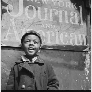 Harlem Newsboy, 1943, by Gordon Parks (Library of Congress).