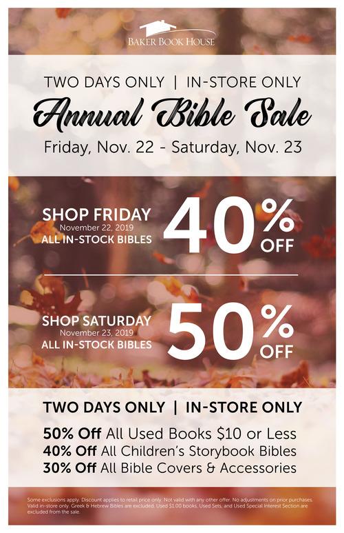 2019 bible sale 11x17