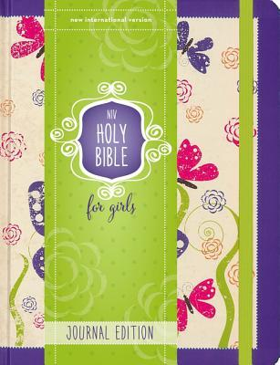 Niv, Holy Bible for Girls, Journal Edition, Hardcover, Purple, Elastic Closure