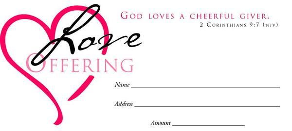 Value Offering Envelope (Pk of 100) - Love Offering