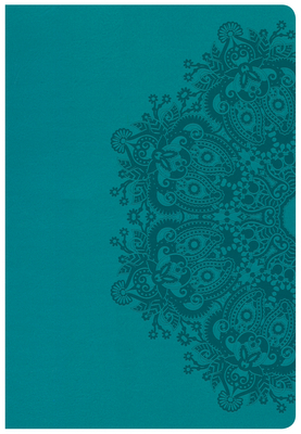 CSB Super Giant Print Reference Bible, Teal Leathertouch