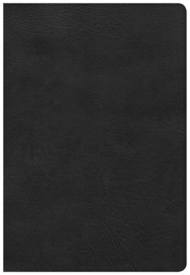 CSB Super Giant Print Reference Bible, Black Leathertouch, Indexed