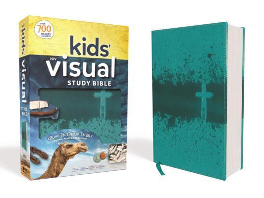 NIV Kids' Visual Study Bible, Imitation Leather, Teal, Full Color Interior