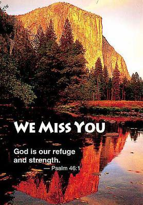 We Miss You Mountain Postcard (Package of 25)