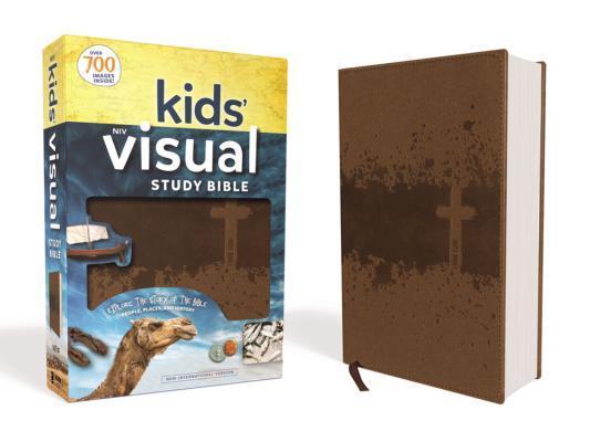 Niv, Kids' Visual Study Bible, Leathersoft, Bronze, Full Color Interior