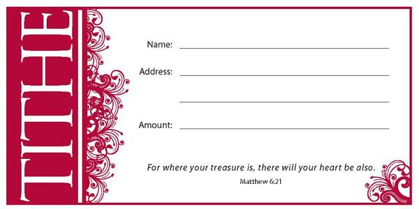 Value Offering Envelope (Pk of 100) - Tithe
