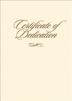 Certificate of Dedication with Envelope 6pk