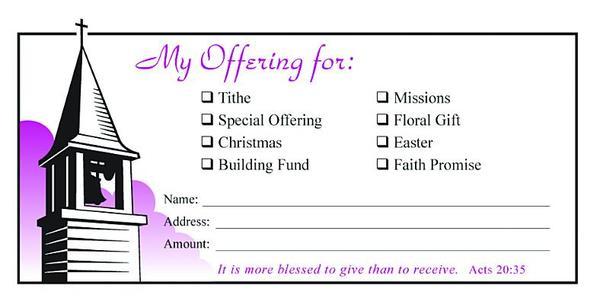 Value Offering Envelope (Pk of 100) - General Offering