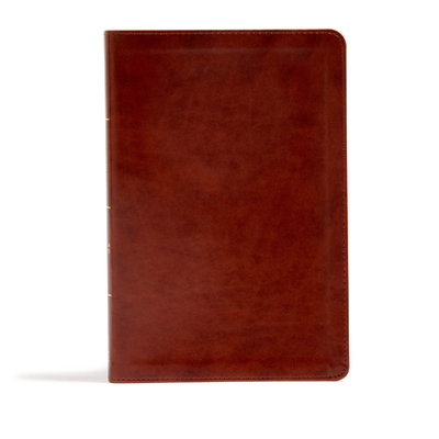 CSB Large Print Ultrathin Reference Bible, British Tan Leathertouch, Black Letter Edition