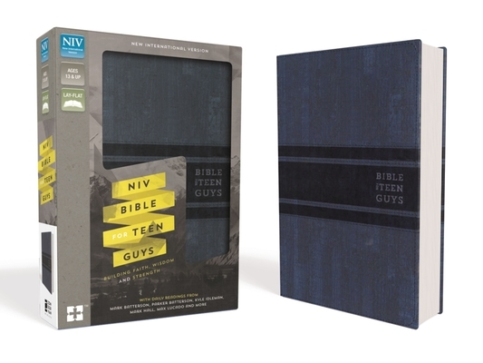 NIV, Bible for Teen Guys, Leathersoft, Blue