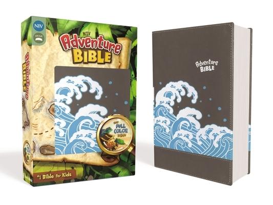 Niv, Adventure Bible, Leathersoft, Gray, Full Color Interior