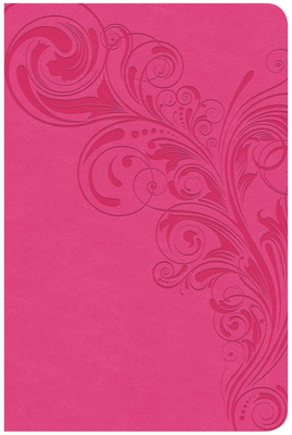 CSB Compact Ultrathin Reference Bible, Pink Leathertouch, Indexed