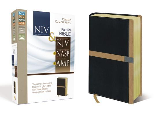 Classic Comparative Side-By-Side Bible-PR-KJV/NASB/Amp/NIV
