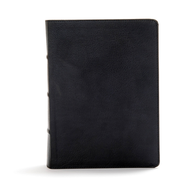 CSB Study Bible, Black Deluxe Leathertouch, Indexed