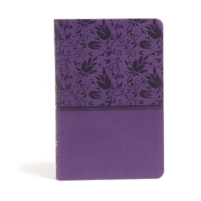 CSB Large Print Personal Size Reference Bible, Purple Leathertouch