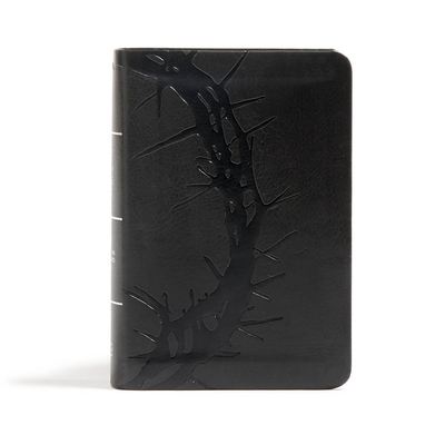 CSB Large Print Compact Reference Bible, Charcoal Leathertouch