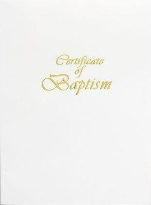 Contemporary Steel-Engraved Adult/Youth Baptism Certificate (Pkg of 3) [With 3 Envelopes]