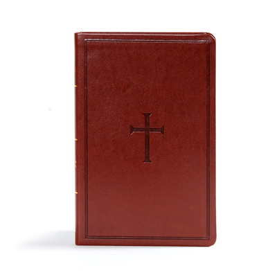 CSB Ultrathin Reference Bible, Brown Leathertouch