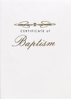 Abingdon Select Collection Adult Certificate of Baptism