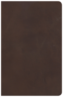 CSB Large Print Personal Size Reference Bible, Brown Genuine Leather